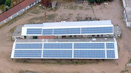 Дахова сонячна електростанція Рівнянська-160 фото