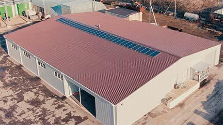 Дахова сонячна електростанція Sunrise в Умані