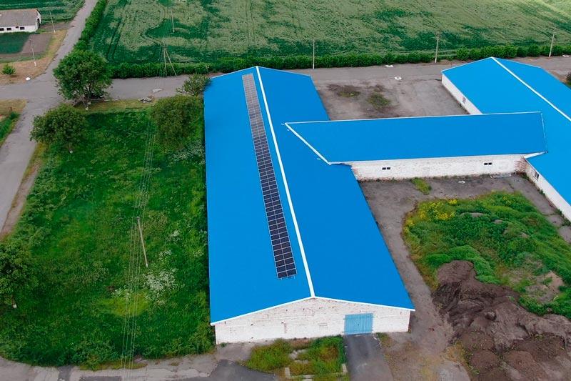 Крышная солнечная электростанция 30 кВт
