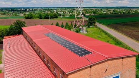 Крышная солнечная электростанция в Городнице 10 кВт