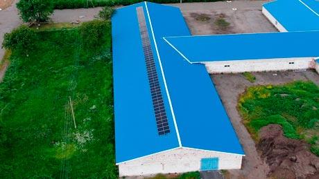 Крышная солнечная электростанция в Городнице 30 кВт