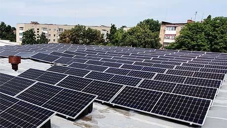 Крышная солнечная станция в Конотопе